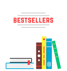 bestseller icon with bookshelf vector image