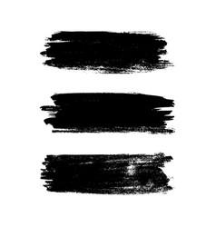 brush stroke set watercolor grunge texture vector image