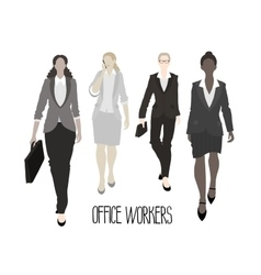 Business-ladies going forward vector