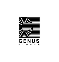 capital letter g is inscribed in a square modern vector image