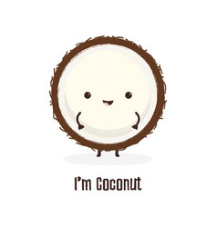 cartoon cheerful coconut vector image