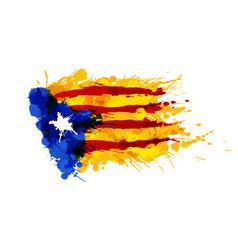catalonia blue estrelada flag made colorful vector image