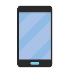 cellphone icon cartoon vector image