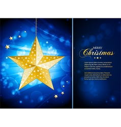 Christmas bauble template with sample text vector image