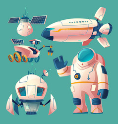 Clipart with objects for space exploration vector