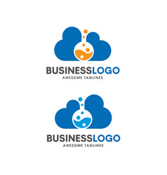 cloud lab logo concept vector image
