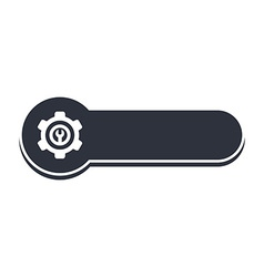 cog setting icon banner template vector image