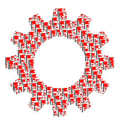 cogwheel composition of flag icons vector image