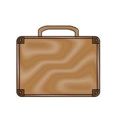 Color blurred stripe of executive briefcase with vector