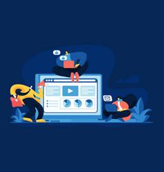 Content marketing services concept vector