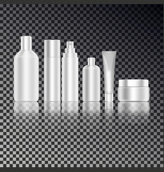 cosmetic bottle set for liquid cream gel lotion vector image