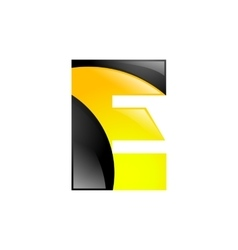 Creative yellow and black symbol letter E for your vector image