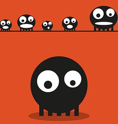 Cute monsters halloween background vector image vector image
