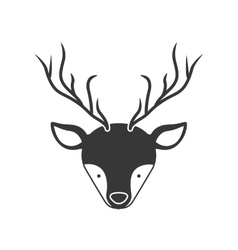 Deer animal face vector