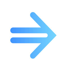 Double-lined blue arrow flat design long shadow vector