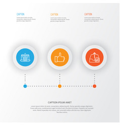 E-commerce icons set collection of outgoing vector
