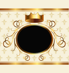 elegant aristocratic card with golden crown vector image