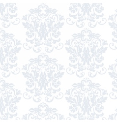 Elegant Vintage floral ornament pattern in blue vector