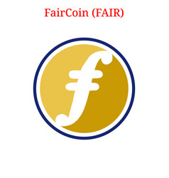 Faircoin fair logo vector