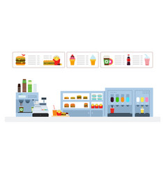fast food cafe and bar flat isolated vector image