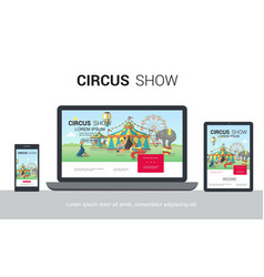 flat circus adaptive design concept vector image