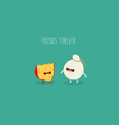 friends of cheese vector image