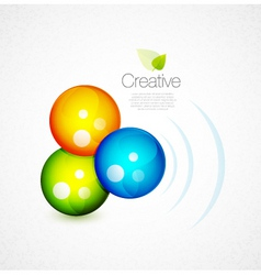 glossy orbs vector image