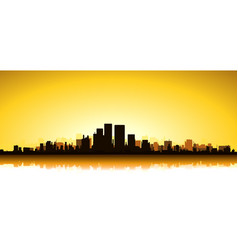 Gold cityscape vector