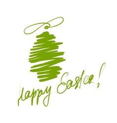 Happy Easter Sketch greeting card for your design vector image