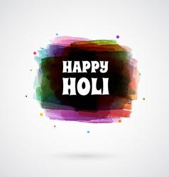 Happy Holi card template vector