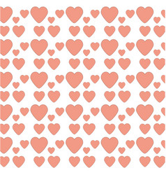Heart love decoration seamless pattern vector