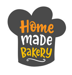 Home made bakery logotype vector