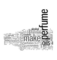 How to make perfume vector