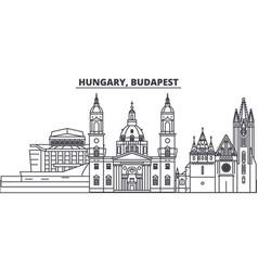 Hungary budapest line skyline vector