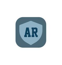 initial letter logo ar template design vector image