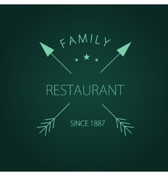 Label logo or menu design for restaurant or vector image