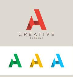 Letter a minimal logo design abstract logo vector