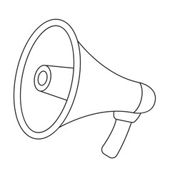 megaphone icon in outline style isolated on white vector image