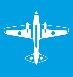 military aircraft icon white vector image