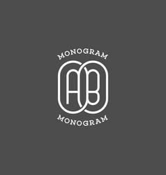 Monogram ab vector