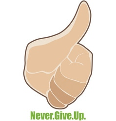 Never Give Up vector