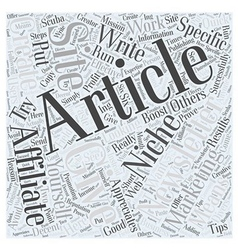 Newsletters and affiliate marketing Word Cloud vector
