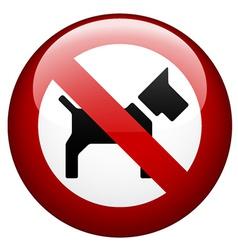 no dog mark vector image