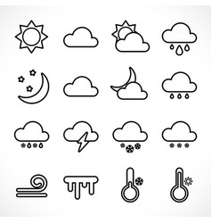 outline weather icons set vector image