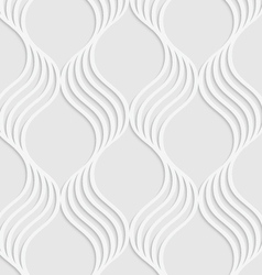 Paper cut out wavy leaves forming grid vector image vector image