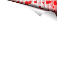 Paper page with hearts vector