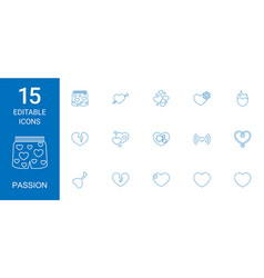 Passion icons vector