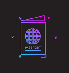 passport icon design vector image