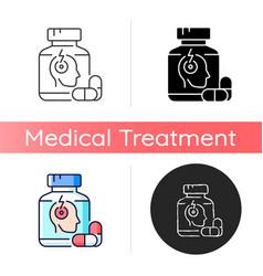 Pills for headache icon vector