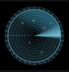 radar display icon enemy detection concept vector image